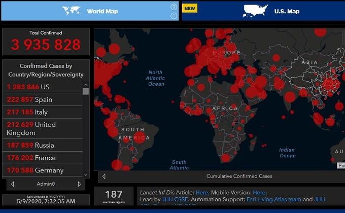Число зараженных COVID-19 вмире превысило 4  млн.  человек
